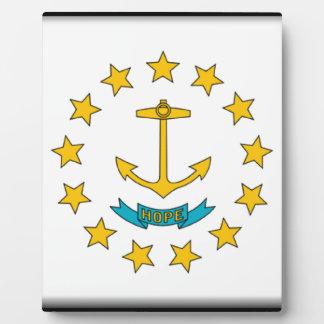 Rhode Island Flag Photo Plaques
