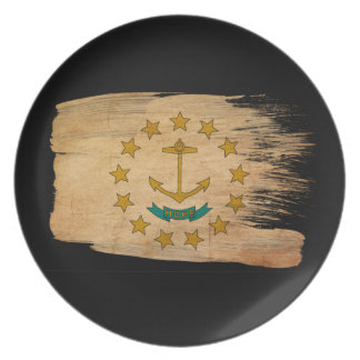Rhode Island Flag Party Plate