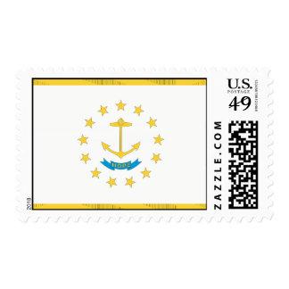 RHODE ISLAND Flag Postage Stamp