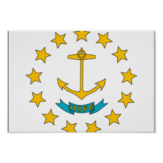Rhode Island Flag Posters