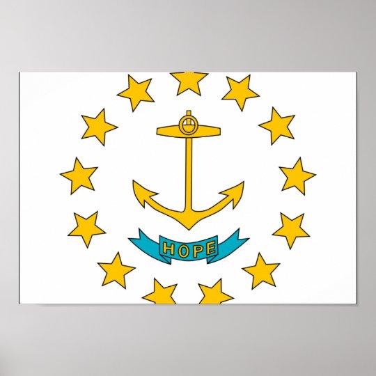 Rhode Island Flag Poster
