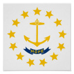 Rhode Island Flag Print