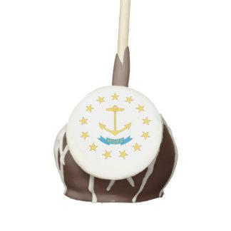 RHODE ISLAND FLAG CAKE POPS
