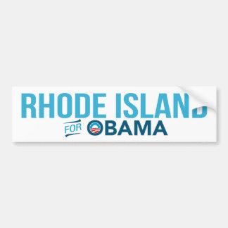 Rhode Island For Barack Obama Biden Bumper Sticker