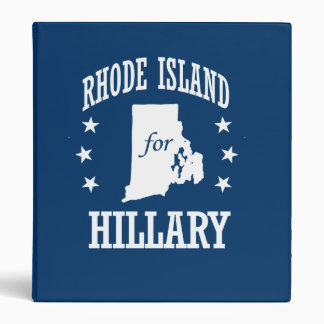 RHODE ISLAND FOR HILLARY VINYL BINDER