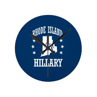 RHODE ISLAND FOR HILLARY ROUND WALLCLOCKS
