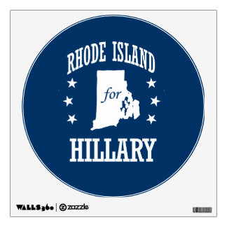 RHODE ISLAND FOR HILLARY WALL STICKER