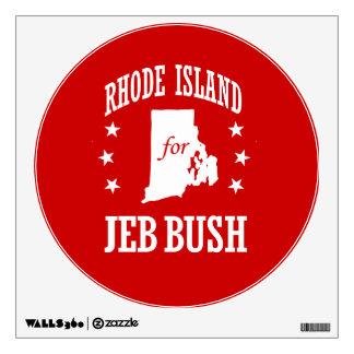 RHODE ISLAND FOR JEB BUSH ROOM STICKERS