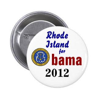 Rhode Island for Obama 2012 Pin