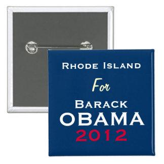 RHODE ISLAND For OBAMA 2012 Campaign Button