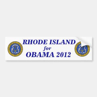 Rhode Island for Obama 2012 sticker Bumper Sticker