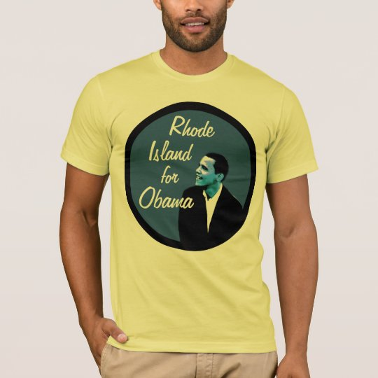 Rhode Island for Obama Blue T-Shirt