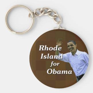 Rhode Island for Obama Keychain