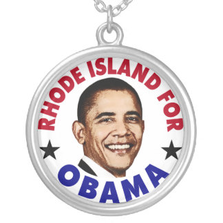 Rhode Island For Obama Necklace
