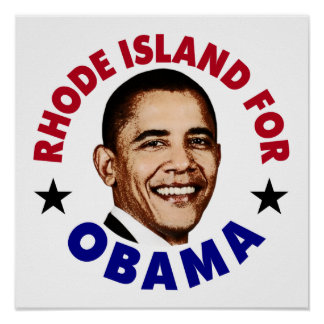 Rhode Island For Obama Posters