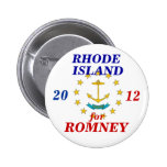 Rhode Island for Romney 2012 Pinback Button