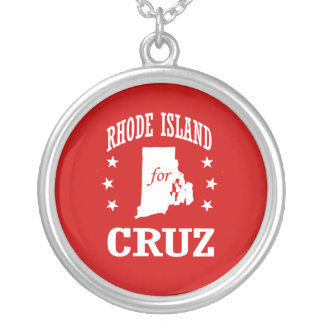 RHODE ISLAND FOR TED CRUZ ROUND PENDANT NECKLACE
