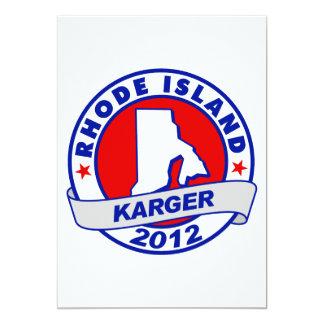 Rhode Island Fred Karger 5x7 Paper Invitation Card