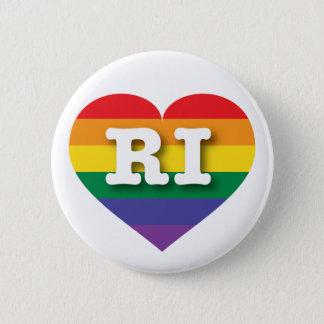 Rhode Island Gay Pride Rainbow Heart - Big Love Button