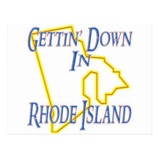 Rhode Island - Gettin' Down Postcard