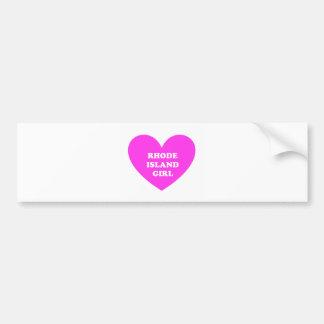Rhode Island Girl Bumper Sticker