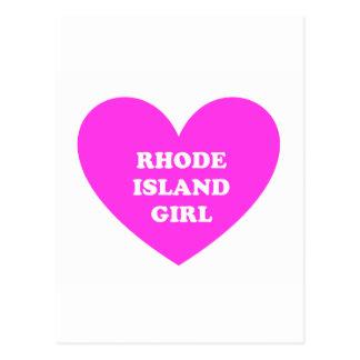 Rhode Island Girl Postcard