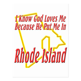 Rhode Island - God Loves Me Postcard