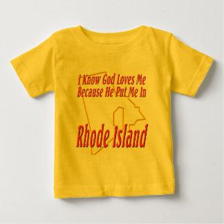 Rhode Island - God Loves Me Tee Shirts