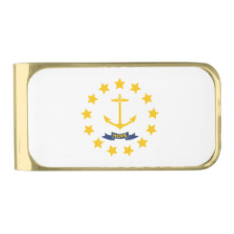 Rhode Island Gold Finish Money Clip