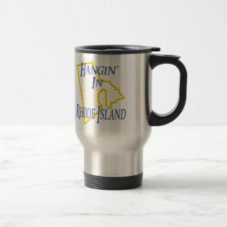 Rhode Island - Hangin' 15 Oz Stainless Steel Travel Mug