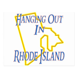 Rhode Island - Hanging Out Postcard