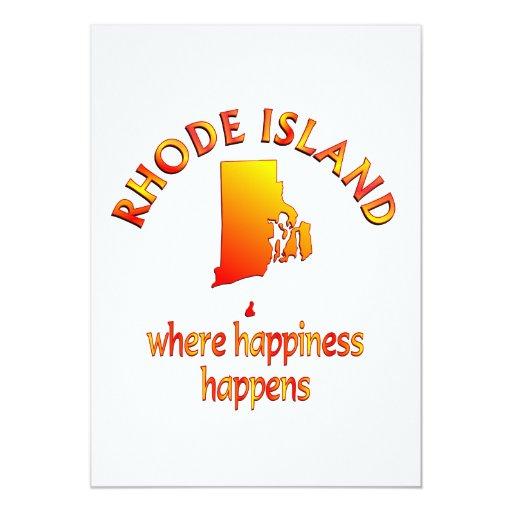 RHODE ISLAND Happiness 5x7 Paper Invitation Card