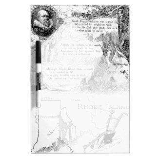 Rhode Island History Dry-Erase Board