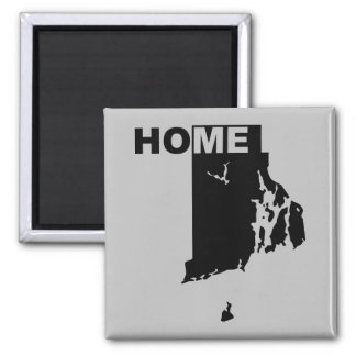 Rhode Island Home Away From State Fridge Magnet