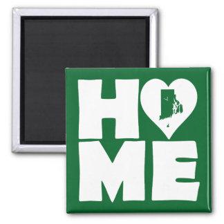 Rhode Island Home Heart State Fridge Magnet