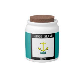 Rhode Island Hope Anchor Candy Jar