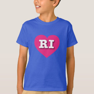 Rhode Island hot pink heart - Big Love T-Shirt