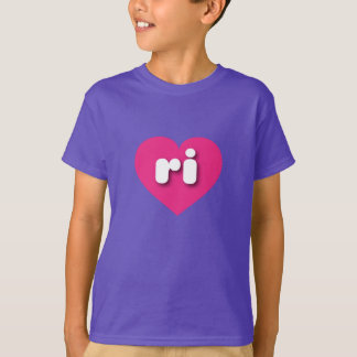 Rhode Island hot pink heart - mini love T-Shirt