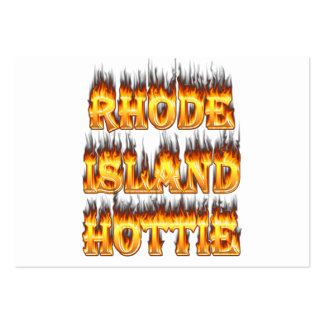 Rhode Island Hottie fire and flames Large Business Cards (Pack Of 100)