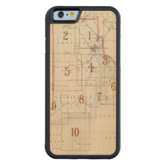 Rhode Island index map Carved® Maple iPhone 6 Bumper