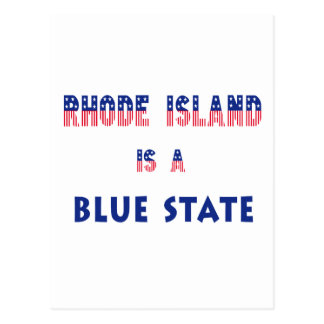 Rhode Island is a Blue State Postcard