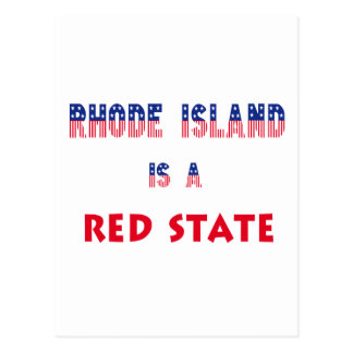 Rhode Island is a Red State Postcard