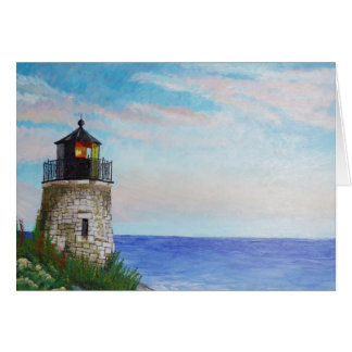 Rhode Island Lighthouse Card