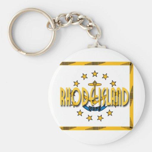 Rhode Island Llavero Redondo Tipo Pin