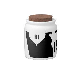 Rhode Island Love Candy Jars