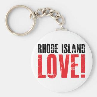 Rhode Island Love Keychain