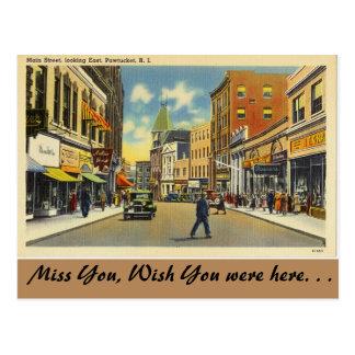 Rhode Island, Main Street, Pawtucket Postcard