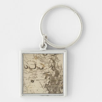 Rhode Island Map by Arrowsmith Silver-Colored Square Keychain
