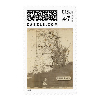 Rhode Island Map by Arrowsmith Postage