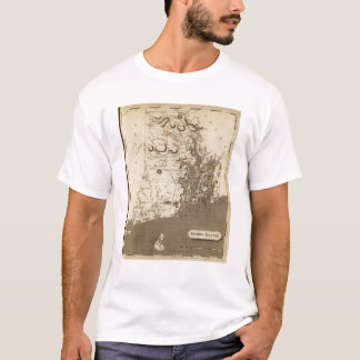 Rhode Island Map by Arrowsmith T-Shirt